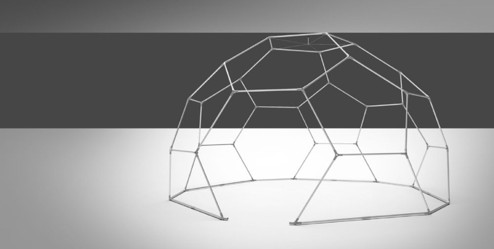 event dome setup - fastening cover