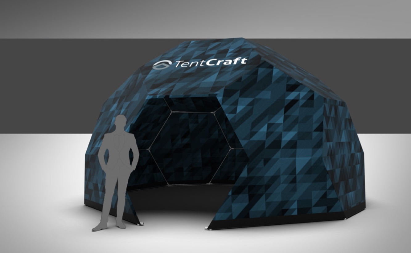 event dome rendering with custom printing