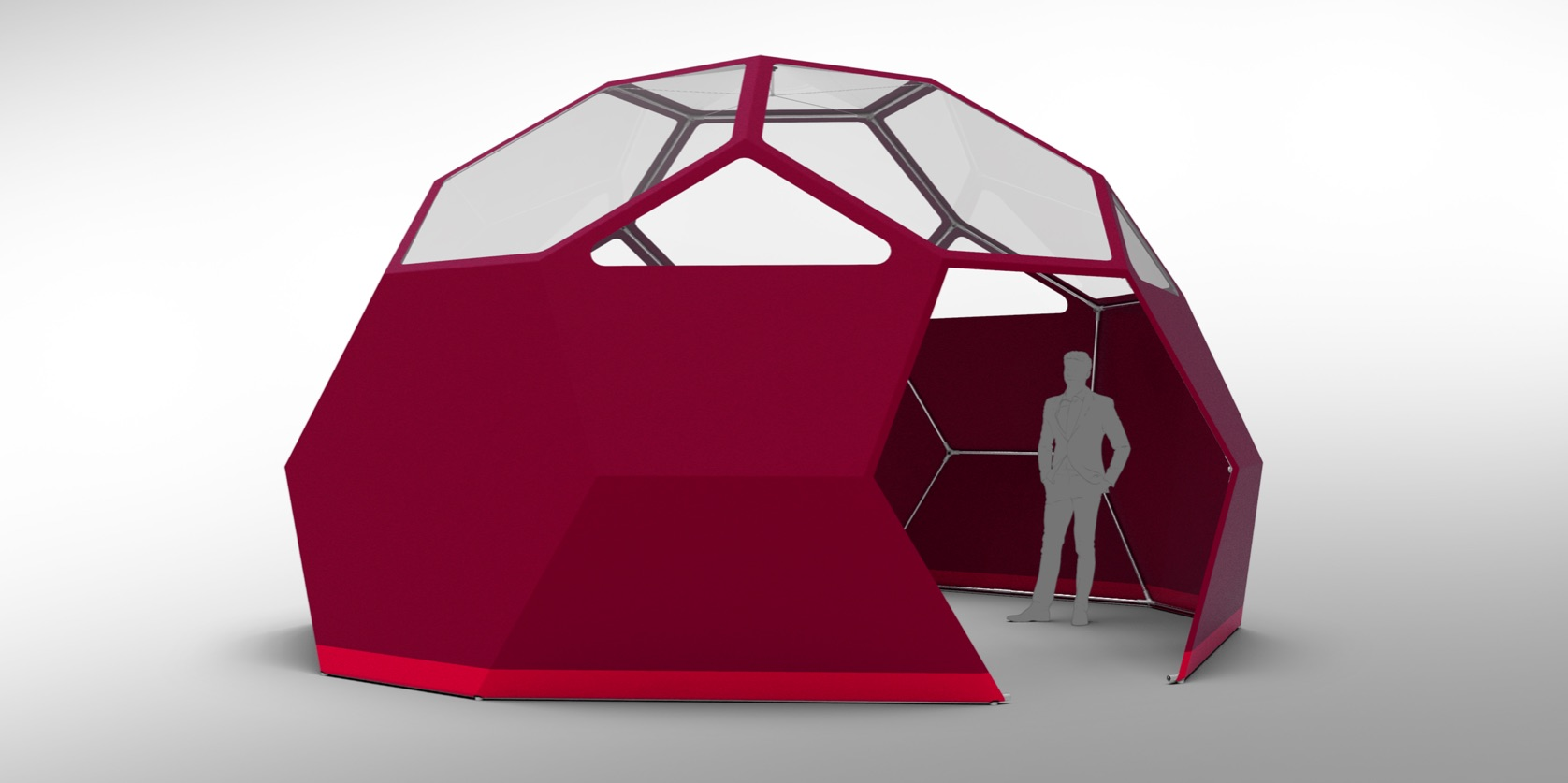 dome tent design with windows