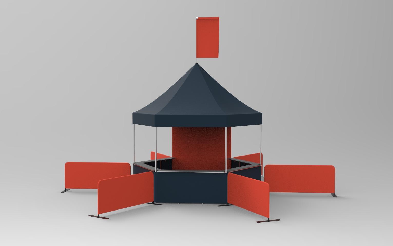 cube style custom canopy tent