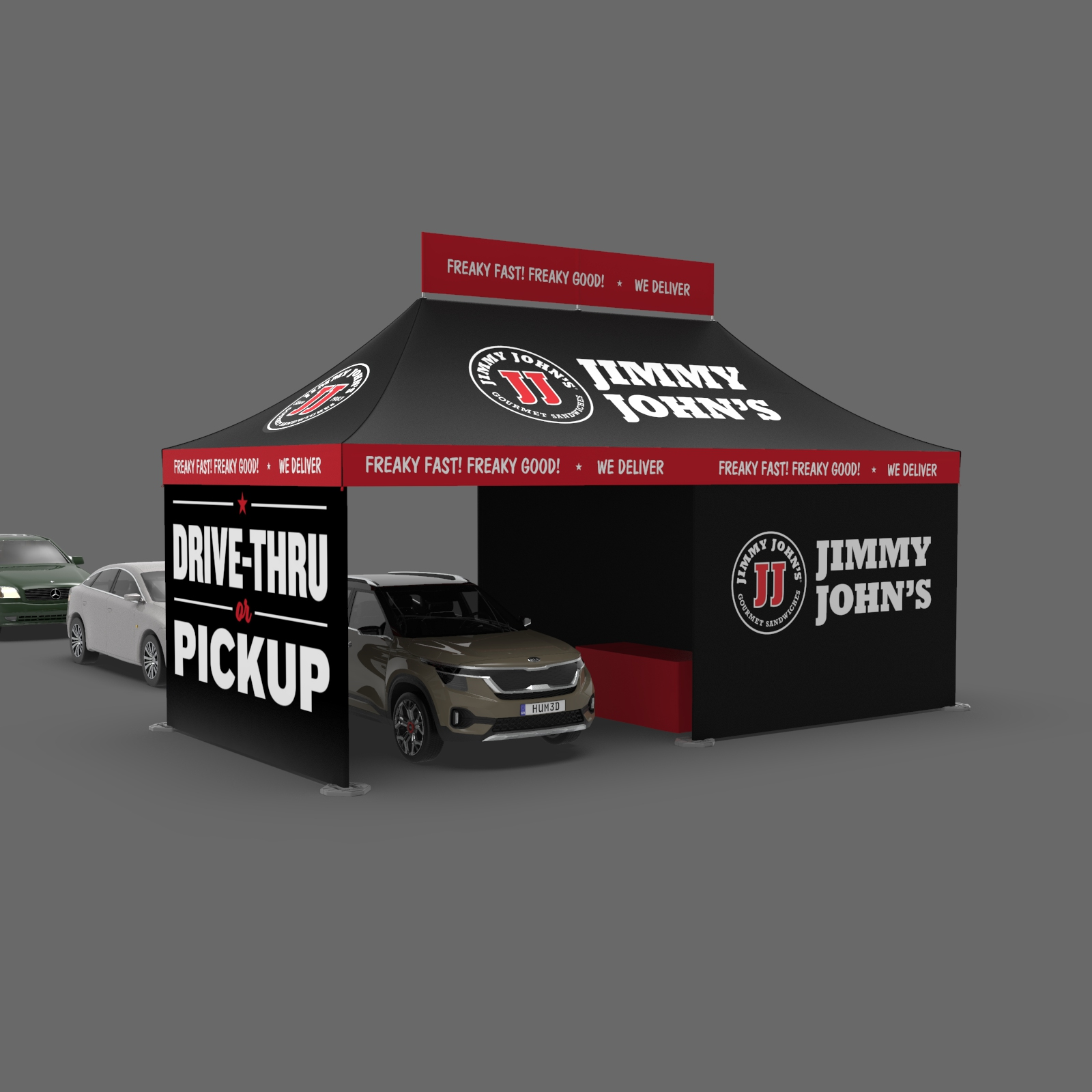 Jimmy Johns Drive Thru Pick Up Tent